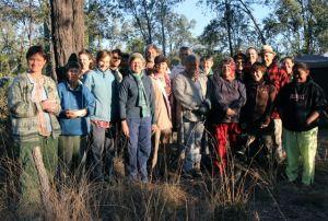 Artists and friends on Bimblebox Nature Refuge, September 2012