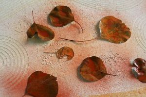 leaves on canvas 1