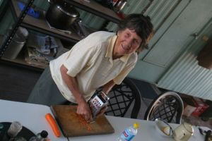 Edna helping with the meals, photo Glenda Orr