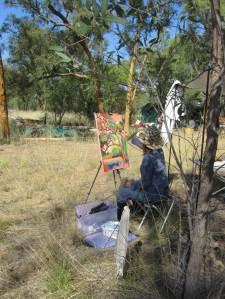 Bimblebox2014ArtistCamp-FridaForsberg-painting-photoBethJ