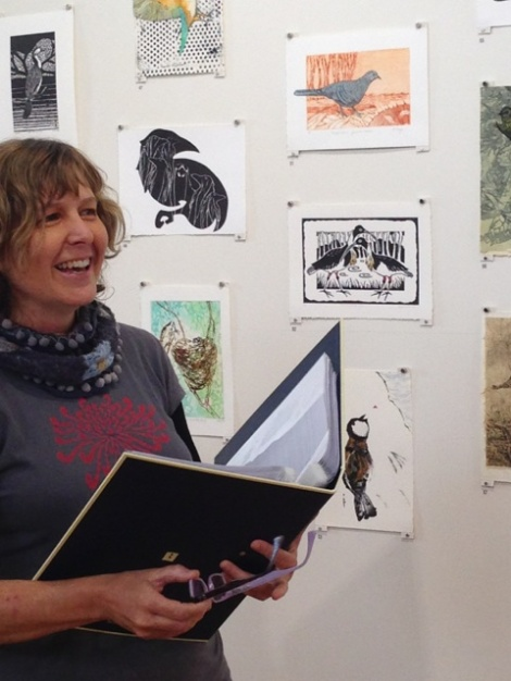 Jill Sampson reads Channel billed Cuckoo poem by Lorne Johnson photo Jo Bragg