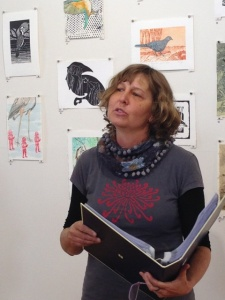 Jill Sampson reads Channel billed Cuckoo poem by Lorne Jonson 2 photo Jo Bragg
