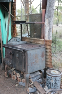 Stove and water heater, Bimblebox Nature Refuge camp, photo Jill Sampson, 2014.