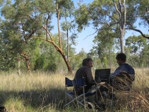 John Davis and Karl Hoch at the Bimblebox Nature Refuge, 2014, photo Beth Jackson