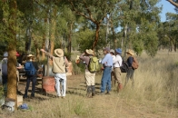 The camp started with an ecology tour by Eric and Diana Anderson.