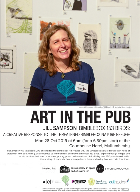 Jill Sampson, art in the pub